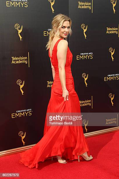 Rhea Seehorn attends the 2016 Creative Arts Emmy Awards held at Microsoft Theater on September 10 2016 in Los Angeles California