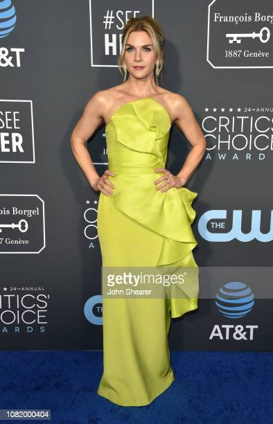 Rhea Seehorn attends the 24th Annual Critics' Choice Awards at Barker Hangar on January 13 2019 in Santa Monica California