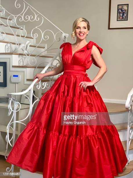 Rhea Seehorn poses for the 2021 Critics Choice Awards on March 7, 2021.