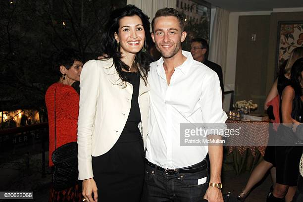 Rhea Tziros and Seth Stevens attend ELLE DECOR CHRISTIE's Launch of THE CELERIE KEMBLE COLLECTION for SCHUMACHER with LEXUS at Christie's on...