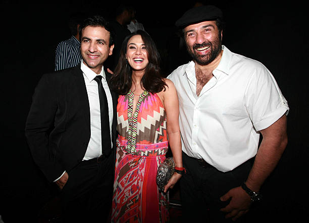 Rhehan Malliek Preity Zinta and Sunny Doel at the premiere of the movie Ishq in Paris in Mumbai