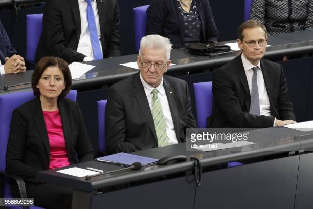 Rheinlandpfälzische Ministerpräsidentin Malu Dreyer Präsidentin des Bundesrates BadenWürttembergs Ministerpräsident Winfried Kretschmann Michael...