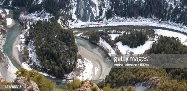 rheinschlucht - kanton graubünden stock-fotos und bilder