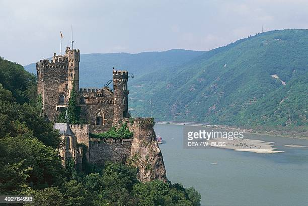 Rheinstein castle 10th century Middle Rhine Valley from Mainz to Koblenz Germany