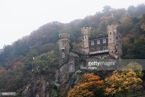 Rheinstein Castle Above Trechtingshausen As Seen From The Rhine River RhinelandPalatinate Germany