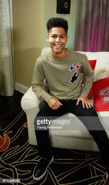 Rhenzy Feliz from Marvel's Runaways visits the Young Hollywood Studio on November 21 2017 in Los Angeles California
