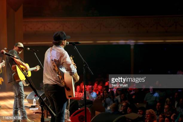 Rhett Akins and Dallas Davidson of The Peach Pickers performs onstage during the 6th Annual Georgia On My Mind presented by Gretsch at Ryman...