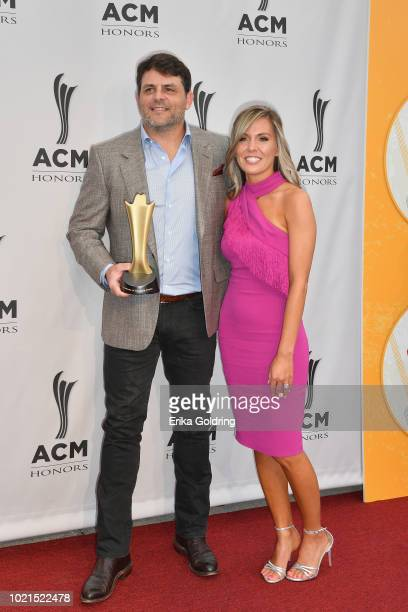 Rhett Akins and Sonya Mansfield attend the 12th Annual ACM Honors at Ryman Auditorium on August 22 2018 in Nashville Tennessee