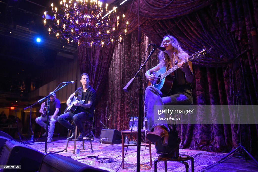 Rhett Akins, Devin Dawson and Jessi Alexander perform during A Songwriters Round Benefiting City Of Hope at Analog at the Hutton Hotel on May 16, 2018 in Nashville, Tennessee.