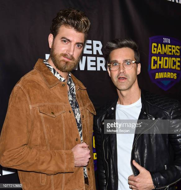 Rhett and Link arrive at Gamers' Choice Awards 2018 at Fonda Theater on December 3 2018 in Los Angeles California