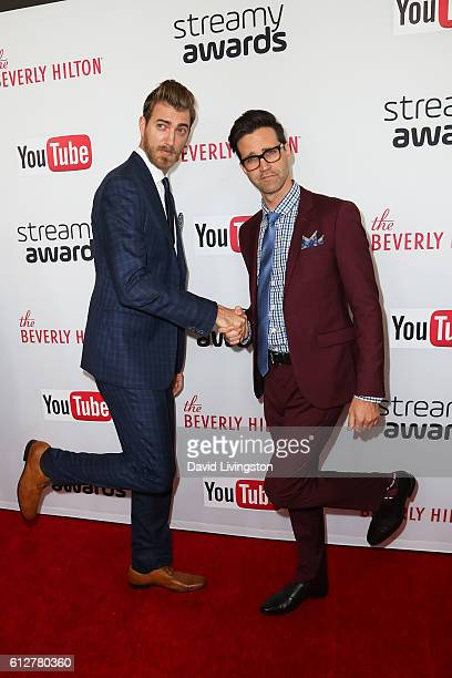 Rhett and Link arrives at the 2016 Streamy Awards at The Beverly Hilton Hotel on October 4 2016 in Beverly Hills California
