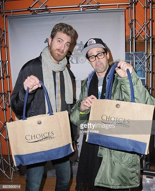 Rhett and Link attend EcoLuxe Lounge Ten Years at Sundance on January 21 2017 in Park City Utah