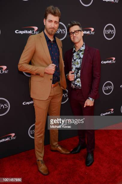 Rhett and Link attend the 2018 ESPY Awards Red Carpet Show Live Celebrates With Moet Chandon at Microsoft Theater on July 18 2018 in Los Angeles...