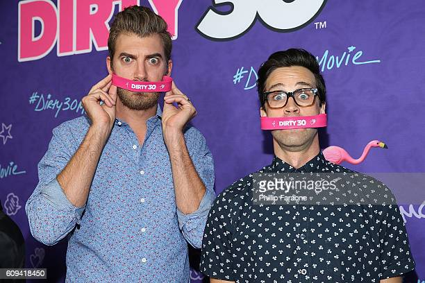 Rhett and Link attend the premiere of Lionsgate's Dirty 30 at ArcLight Hollywood on September 20 2016 in Hollywood California