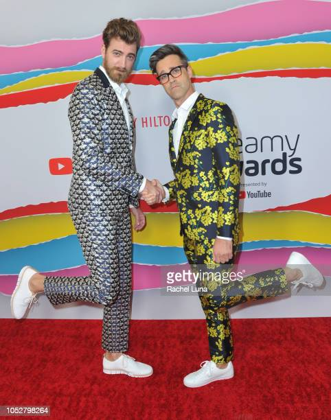 Rhett and Link attend the Streamy Awards at The Beverly Hilton Hotel on October 22 2018 in Beverly Hills California
