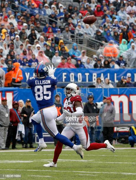 Rhett Ellison of the New York Giants in action against the Arizona Cardinals at MetLife Stadium on October 20, 2019 in East Rutherford, New Jersey....