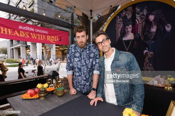 Rhett James McLaughlin and Charles Lincoln Link Neal III attend the Audible and Broadway Video celebrate the opening of The Night Realm Tavern at...