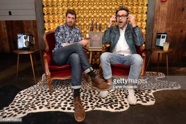 Rhett James McLaughlin and Charles Lincoln Link Neal III attends as Audible and Broadway Video celebrate the opening of The Night Realm Tavern at...