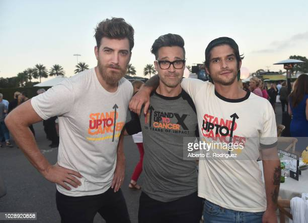 Rhett James McLaughlin and Charles Lincoln Link Neal III of Rhett Link and Tyler Posey attend the sixth biennial Stand Up To Cancer telecast at the...