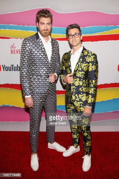 Rhett James McLaughlin and Link Neal attend The 8th Annual Streamy Awards at The Beverly Hilton Hotel on October 22 2018 in Beverly Hills California