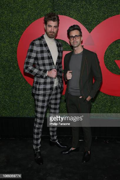 Rhett James McLaughlin and Link Neal of Rhett and Link attend the 2018 GQ Men Of The Year Party at Benedict Estate on December 6 2018 in Beverly...