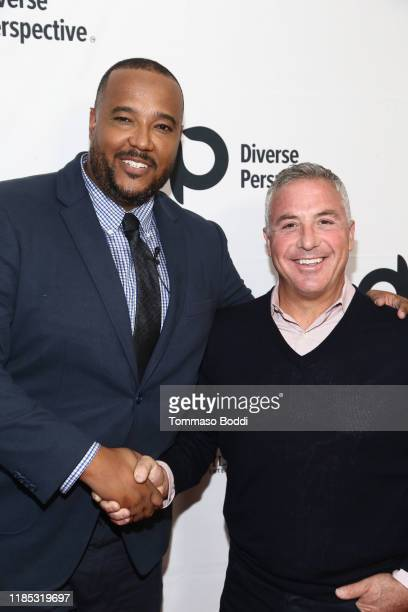 Rhett Lindsey and David Dubinsky attend the WACO Theater Foundation's An Introduction To The Diverse Perspective Event at WACO Theater Center on...
