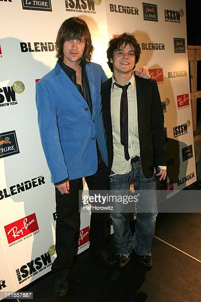 Rhett Miller and Jamie Cullum during 20th Annual SXSW Music and Film Festival Blender 20th Anniversary Party at Guerrero Produce Warehouse in Austin...
