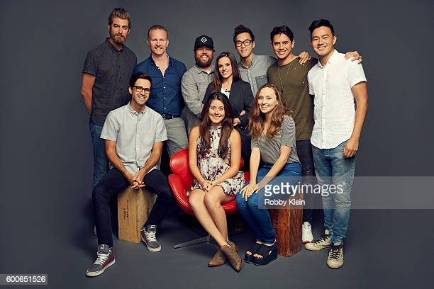 Rhett Morgan Spurlock Shay Carl Butler Wesley Chan Eric Ochoa Philip Wang Link Manon Mathews and Hillary Matthews are photographed at the YouTube...