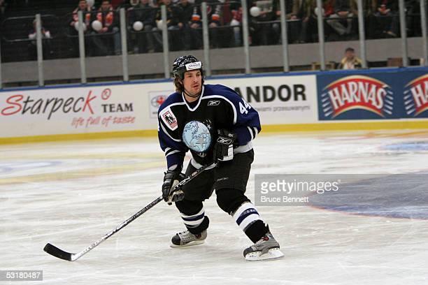 Rhett Warrener of the Primus Worldstars skates on the ice during the game against the Polish National Team on December 22, 2004 at the Spodek Arena...