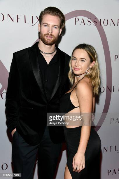 Rhett Wellington and Jackie Dunnett attend Passionflix's The Will Los Angeles Premiere on February 12 2020 in Culver City California