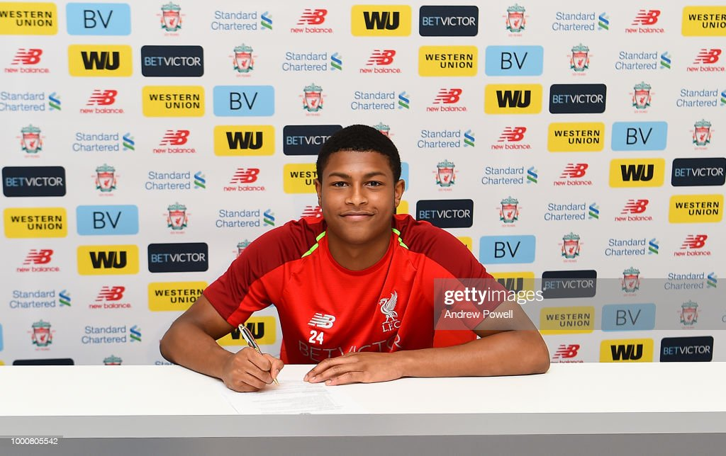 Rhian Brewster Signs Contract Extension For Liverpool FC : News Photo