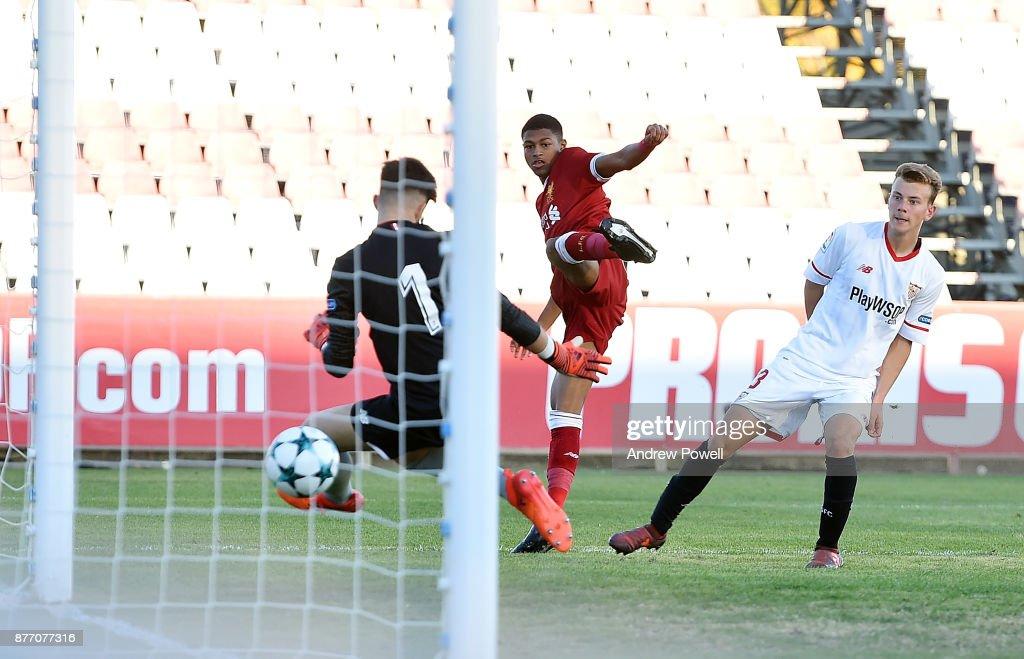 Sevilla FC U19 v Liverpool FC U19 - UEFA Youth League : News Photo