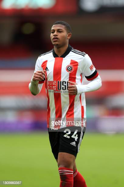 Rhian Brewster of Sheffield United looks on during the Premier League match between Sheffield United and Southampton at Bramall Lane on March 06,...