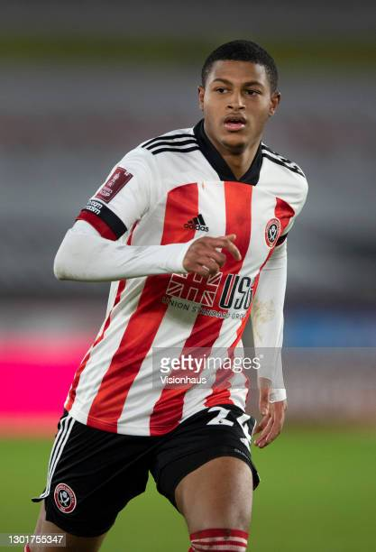 Rhian Brewster of Shefield United in action during The Emirates FA Cup Fifth Round match between Sheffield United and Bristol City at Bramall Lane on...
