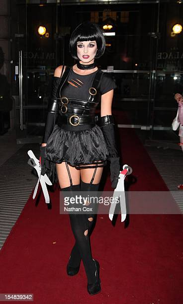 Rhian Sugden appears at Coleen Nolan Halloween Party Loose Women star hosts a Halloween party in aid of the children's cancer charity Saras Hope...