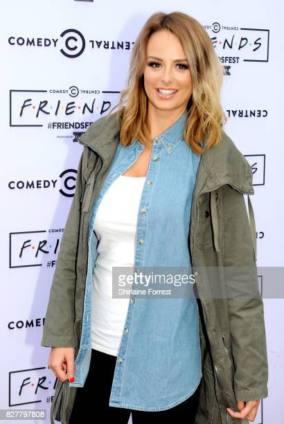 Rhian Sugden arrives at 'FriendsFest' 2017 at Heaton Park on August 8 2017 in Manchester England