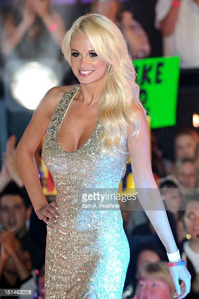 Rhian Sugden attends the Celebrity Big Brother House on the final night at Elstree Studios on September 7 2012 in Borehamwood England