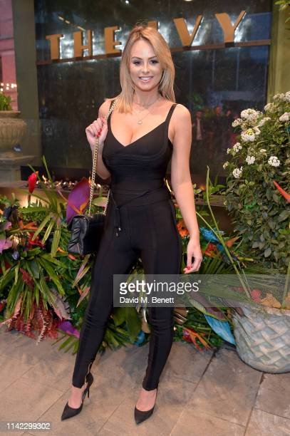 Rhian Sugden attends The Ivy Spinningfields Manchester Super Party on April 12 2019 in Manchester England