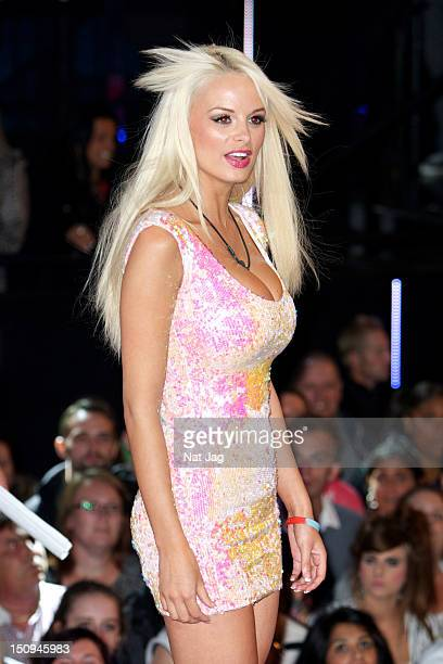 Rhian Sugden is evicted from the Big Brother House at Elstree Studios on August 29 2012 in Borehamwood England