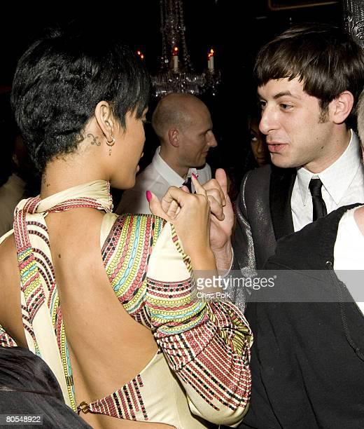 Rhianna attends NE-YO Compound Entertainment Pre-Grammy at 86 on February 9, 2008 in Los Angeles, California.