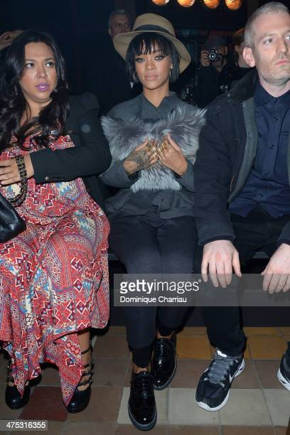 Rhianna attends the Lanvin show as part of the Paris Fashion Week Womenswear Fall/Winter 20142015 on February 27 2014 in Paris France