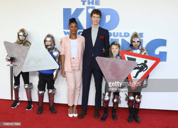 Rhianna Dorris and Angus Imrie seen at The Kid Who Would Be King Gala screening at the Odeon Luxe Leicester Square.
