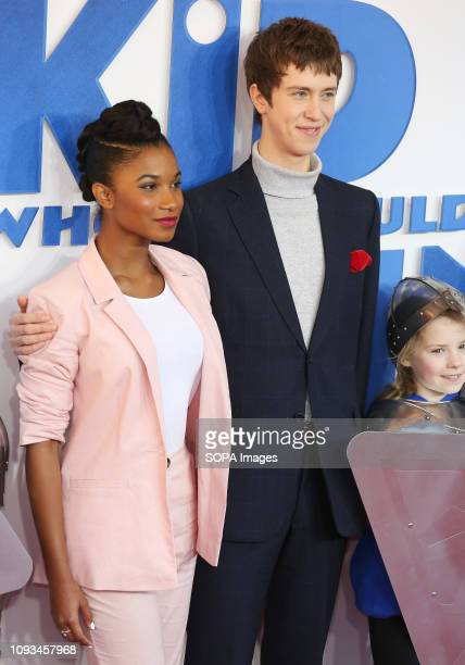 Rhianna Dorris and Angus Imrie seen attending a Family Gala Screening of The Kid Who Would Be King at Odeon Luxe Leicester Square in London.