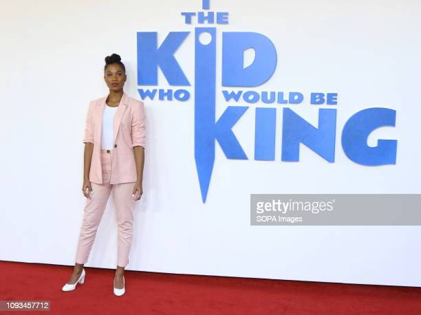 Rhianna Dorris seen at The Kid Who Would Be King Gala screening at the Odeon Luxe Leicester Square