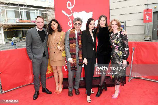 Rhianne Barreto David Farr Esme CreedMiles Sarah Adina Smith and Mireille Enos attend the Hanna premiere during the 69th Berlinale International Film...