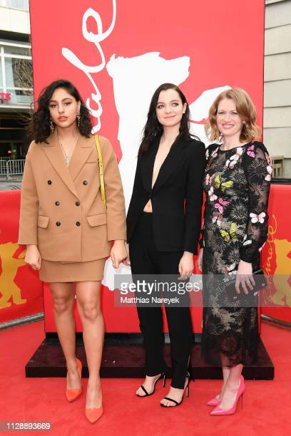 Rhianne Barreto Esme CreedMiles and Mireille Enos attend the Hanna premiere during the 69th Berlinale International Film Festival Berlin at Zoo...
