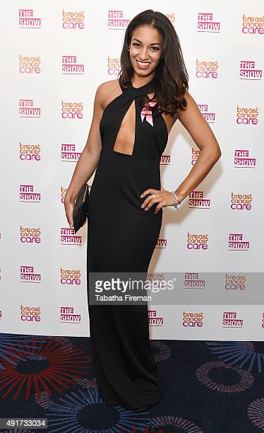 Rhianne Starbuck attends Breast Cancer Care's London fashion show at Grosvenor House Hotel to launch Breast Cancer Awareness Month on October 7 2015...