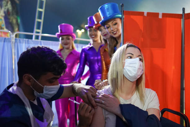 GBR: Circus-goers Receive Covid Vaccines Before Big Top Performance