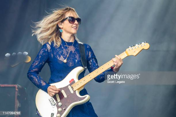 """Rhiannon """"Ritzy"""" Bryan of The Joy Formidable performs during day 1 of the Shaky Knees Music Festival at Atlanta Central Park on May 03, 2019 in..."""