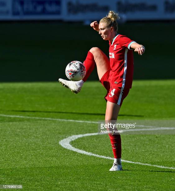 Rhiannon Roberts of Liverpool Womenduring the FA Women's Championship match between Liverpool Women and Charlton Athletic Women at Prenton Park on...
